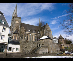 Martinus Kirche (Ben Fredericson (xjrlokix)) Tags: door wood blue sky church statue collage stone temple gold pentax framed gothic kirche medieval sauerland olpe 1645 martinus