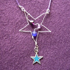 Purple Star - a necklace