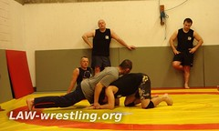 Demonstrating breaking grip from a sprawl
