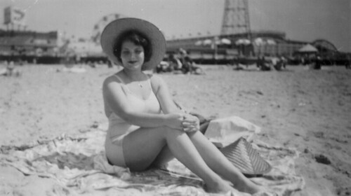 Aunt Rose @ Coney Island 1952