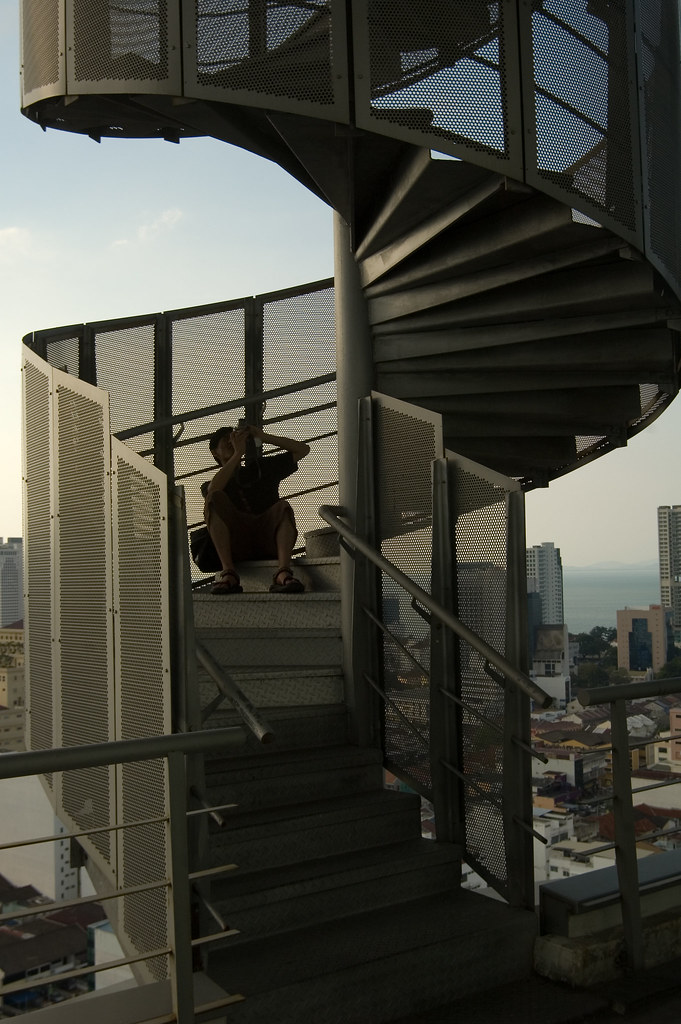 Menara UMNO - Rooftop spiral staircase