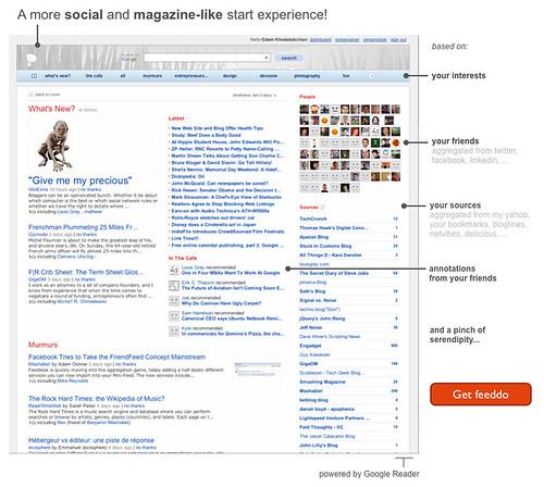mock of the feeddo homepage