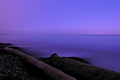 Purple Haze Coastal Mist-ery (Fort Photo) Tags: ocean park longexposure sunset vacation mist beach nature night landscape outdoors star evening coast washington haze nikon purple pacific northwest nps logs trail national pacificnorthwest wa bluehour olympic pnw afterdark d300 straitofjuandefuca specnature 2008reunionnature