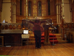 Guido preparing Stephanie's pulpit
