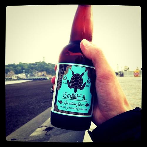 江の島で江の島ビール #instagram