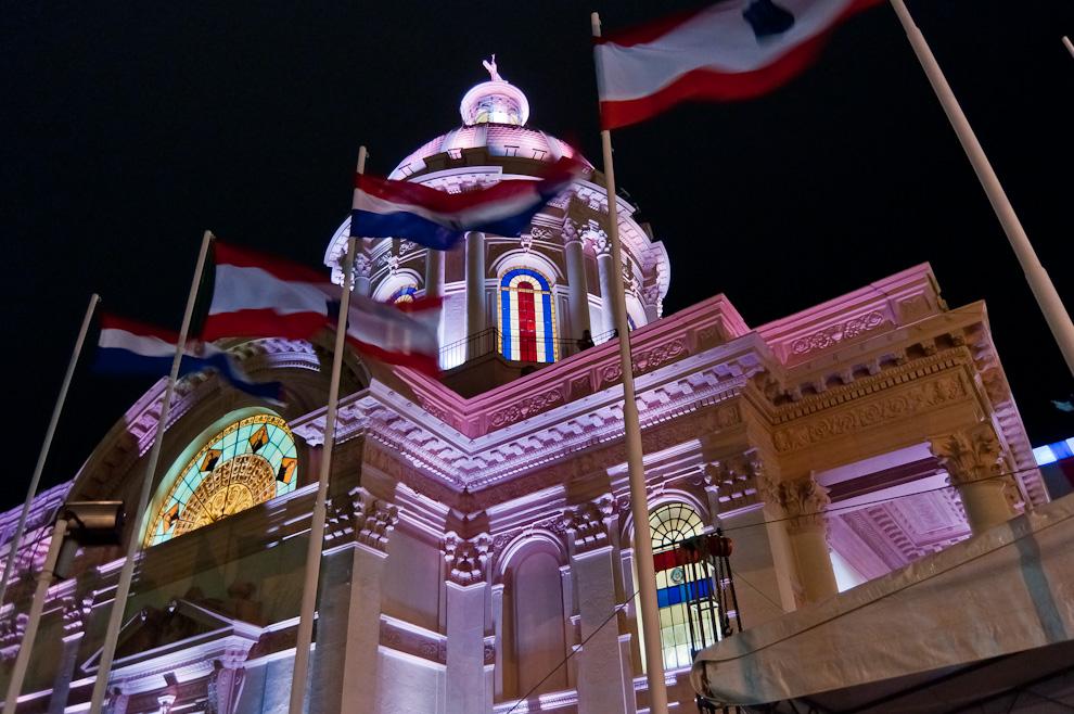 La inauguración de la restauración de la fachada e iluminación externa del Panteón Nacional de los Héroes (Elton Núñez - Asunción, Paraguay)