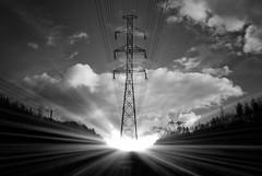 (Sameli) Tags: light sky bw sun sunlight white black espoo suomi finland rays