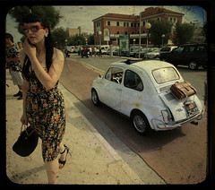 Lolita (Adriano.) Tags: party italy sun rome roma vintage bag shoes vespa dress fiat elvis jewelry buddy clash piercing bamboo holly retro lambretta purse rockabilly 500 custom tuning tiki dolcevita rockandroll reverendhortonheat calavera abarth ttv whells 25faves linobanfi persichetti