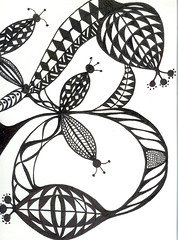 zentangle book 10 (sugarpacketchad) Tags: blackandwhite pen paper drawing drawings collection zentangle lindarudometkin zentangles