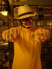 knuckle storys (Da Real Mr.T aka Tom von Lucky) Tags: yellow tattoo mask badass tattoos lucha knuckles wordsonskin storys deadstop attidtude