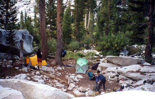 Camp above Big Pete Meadow