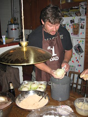 David making chrysanthonions