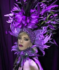 Im ready for my closeup mr Bess (tifmy) Tags: justin work nikon purple feathers makeup ladolcevita showtime dragqueen afterdark bess d40 diamondclassphotographer megashot justinbess unlimitedphotos tifmy llovemypic