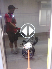 Taking the folding bike to ride the MRT