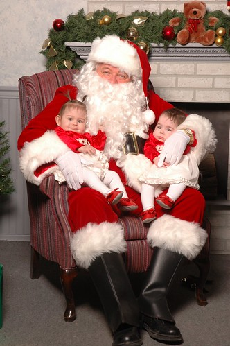 The Girls and Santa