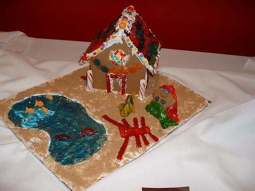 Little Mermaid Gingerbread House