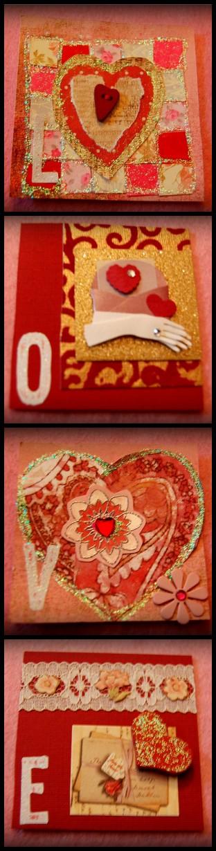 oh so charming itty bitty valentine swap