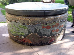 The well covered with mosaic (stiglice - Judit) Tags: mosaic mosaique mozaiek mozaik