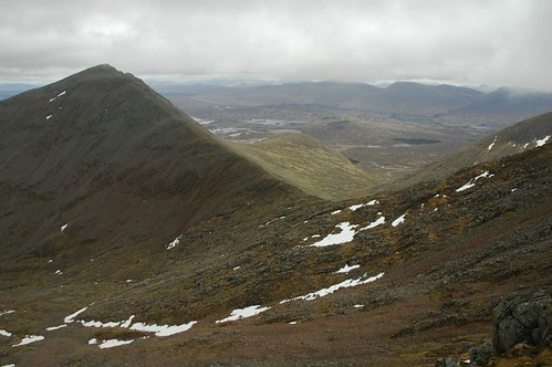 Meall a' Bhuiridh and the route across to Criese