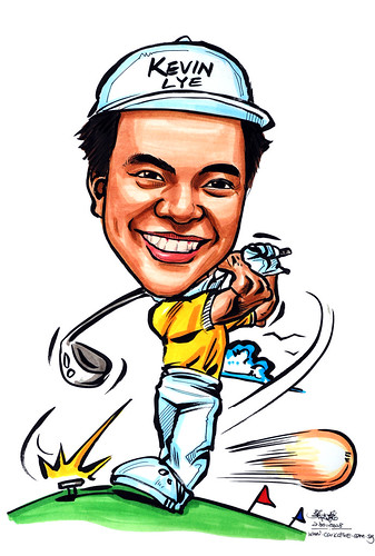 Caricature Deloitte golf