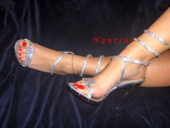 Swarovski Art      (56) (Kwnstantina) Tags: woman feet female foot long highheels legs sandals arches nails barefoot heels swarovski paintednails longnails greekfoot sexyheel sexyheels laceupsandals