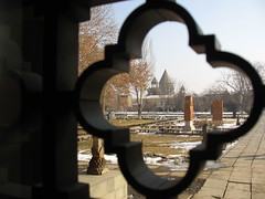 Etchmiadzin - The Main Cathedral of Armenian Orthodoxy (nersess) Tags: window saint museum see cross cathedral holy caucasus christianity orthodox armenianchurch orthodoxchurch kathedral kaukasus ecumenical echmiadzin etchmiadzin  patriachate