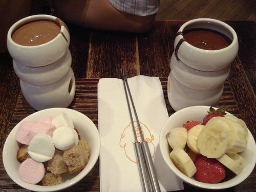 Chocolate fondue for 2@Max Brenner's