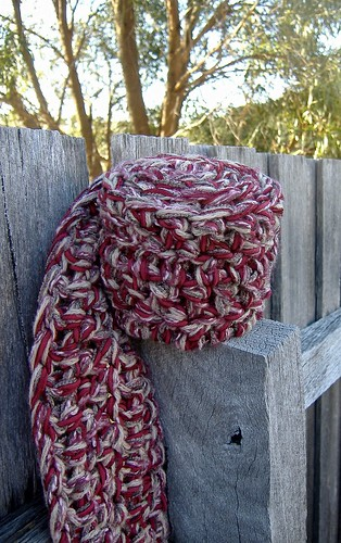 maroon one hour scarf
