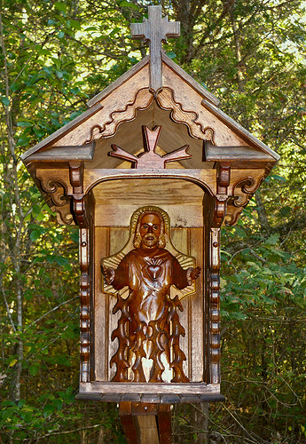 Black Madonna Shrine, in Eureka, Missouri, USA - forest shrine