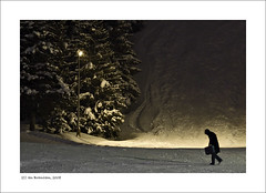 Homeward Bound (Ian Bramham) Tags: street urban snow ski france mountains alps night photography photo nikon fineart explore courchevel d40 70300vr ianbramham