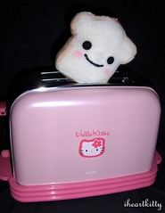 shokupan toast (iheartkitty) Tags: pink cute kitchen japan toy japanese toaster hellokitty toast plush sanrio kawaii shokupan iheartkitty pankunchi