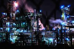 [フリー画像] [人工風景] [建造物/建築物] [工場の風景] [夜景] [オーストラリア風景]      [フリー素材]