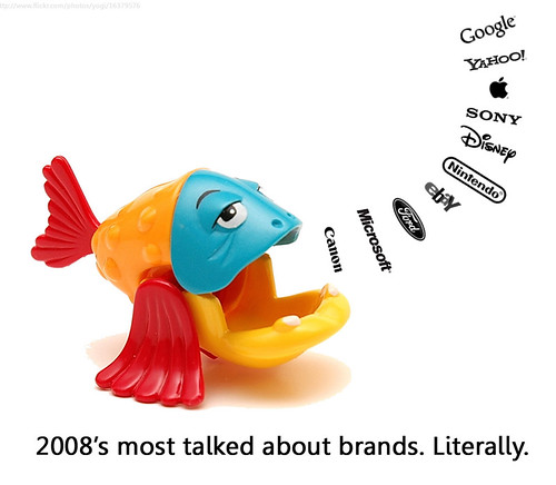 2008\'s Most Talked about Brands, Literally Courtesy of Will Lions creativecommons.org