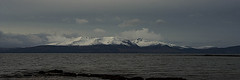 Arran On A Bleak Day (Brian Travelling) Tags: isleofarran island arran firthofclyde bleak water scotland ayrshire ayrshirenorth northayrshire weather mountains mountain goatfell snow capped
