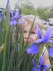 Quinn With Irises