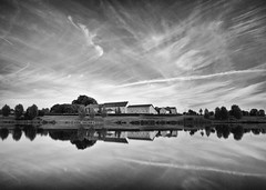 MONTEVRAIN (Benjamin Godard Photography) Tags: bw cloud reflection blackwhite noiretblanc nb tokina reflet longerexposure d90 poselongue nd1000 francelandscapes neutraldensityfilters extremeneutraldensity ultragrandangle montevrain expositionlonguedure