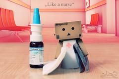 Like a nurse (Oliver Totzke) Tags: 2 canon toy 50mm mark days ii 1d mk2 365 f18 18 50 ef danbo mark2 1dmk2 revoltech danboard