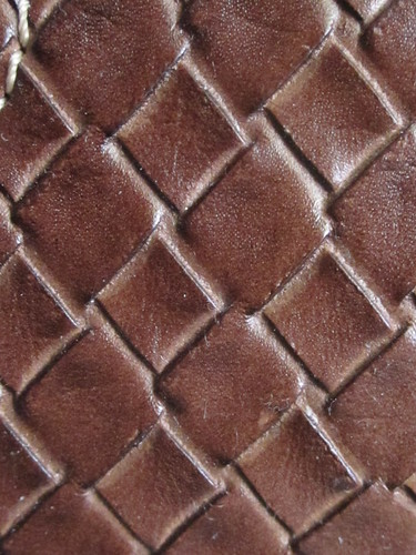Brown Leather Diamond Pattern