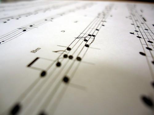 Closeup of a musical score