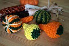 Crochet Gourds (alicia954) Tags: autumn fall halloween gourds crochet craft gourd etsy diyhalloween hsa7under