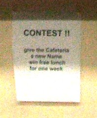 Name-the-cafeteria contest