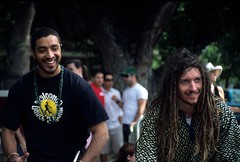 Davis: Whole Earth Festival: Drummers (Ostrosky Photos) Tags: california ca 2 summer two people music usa sun man hot cute male men colors smile dreadlocks fun outdoors drums spring warm pair crowd joy smiles sunny enjoy males recreation drumming persons davis joyful drummers centralvalley activities extasis wholeearthfestival