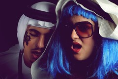 InsomniaC (-ViDa-) Tags: blue woman man studio fun cool funny dubai arabic arab wig tradition insomnia insomniac norm joolz