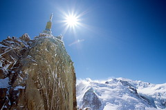 France / Mt.Blanc and Aiguille du Midi (calvin89) Tags: travel blue mountain snow france alpes scen