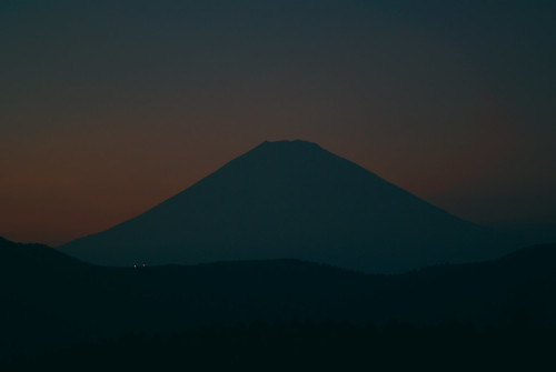 Mt. Fuji in the dusk