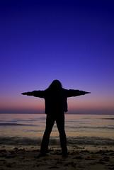Gimme a T (johnjacobsen) Tags: sunset beach water silhouette t tara filters honeymoonisland cokin cokinfilters gimmeat