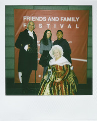 Polaroid: Paulo and Amy with George and Martha at the Smithsonian