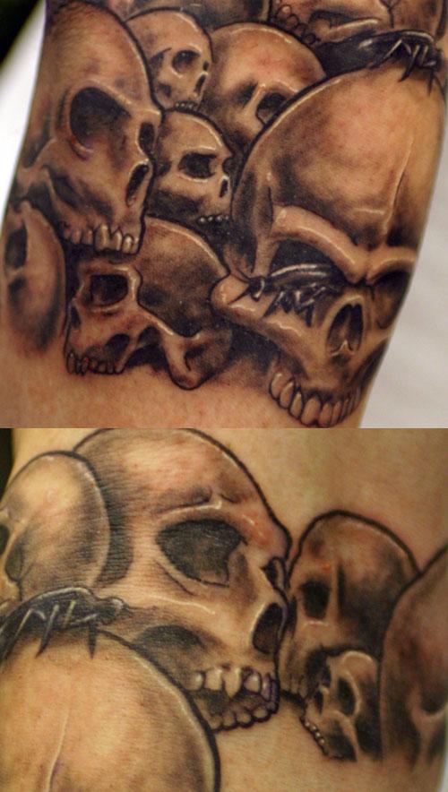 custom skull tattoos. gemini skull tattoos SEE the