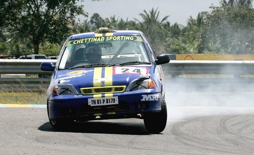 Mazda burning rubber