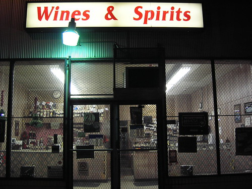 Sad looking liquor store